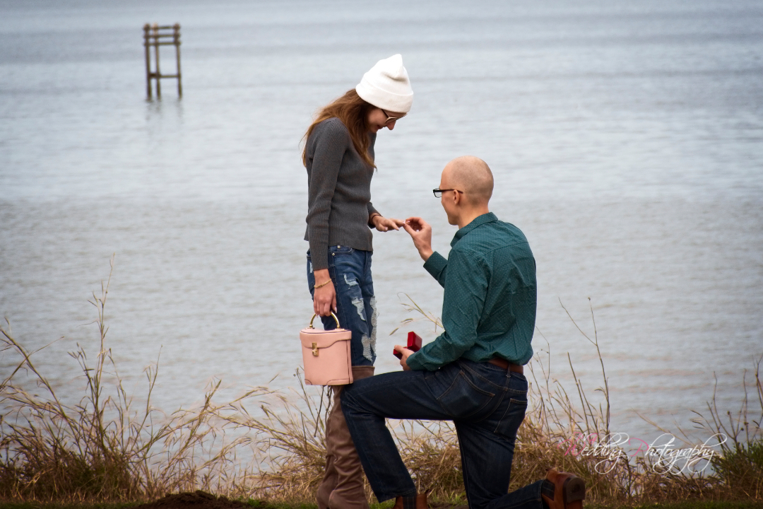 Noah proposed to his bride to be at Bayshore Park in Bacliff, TX.